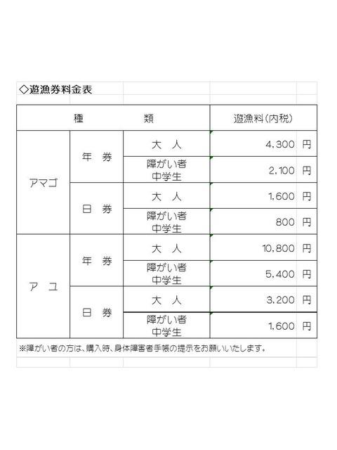 H27鑑札料金表